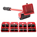 Heavy Furniture Moving Dollies Moving Sliders 5 Packs, Lifter Easy Mover Tool Set