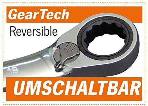 2 piezas, 8-10//11-13 y 14-16//17-19 Projahn 3466 GearTech Llave de boca cerrada doble