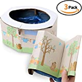 TINTON LIFE 3pcs Portable Paper Toddler Potty Emergencies Kids Disposable Toilet for Travel Car Camping: more info