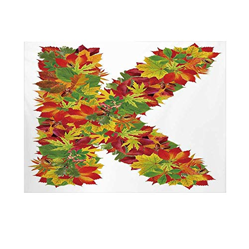 Organic Flannelette - Letter K Photography Background,Fresh Organic Fall Literature Fragrance Herbs Eco Woodland Inspired Capital K Sign Decorative Backdrop for Studio,15x10ft