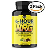Angry Supplements 6 Hour NRG Caffeine Pills w/ Garcinia Cambogia & Apple Cider Vinegar for Weightloss - Monster Energy Boost Includes - Yerba Mate, Ginseng, and Guarana for Mental Focus(2-Pack)