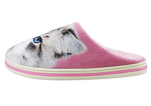 Baocore Pantuflas Mujer peluches zapatos mujer zapatillas peluche adulto Mignon antideslizante ligero agréable blanda para casa/oficina ...