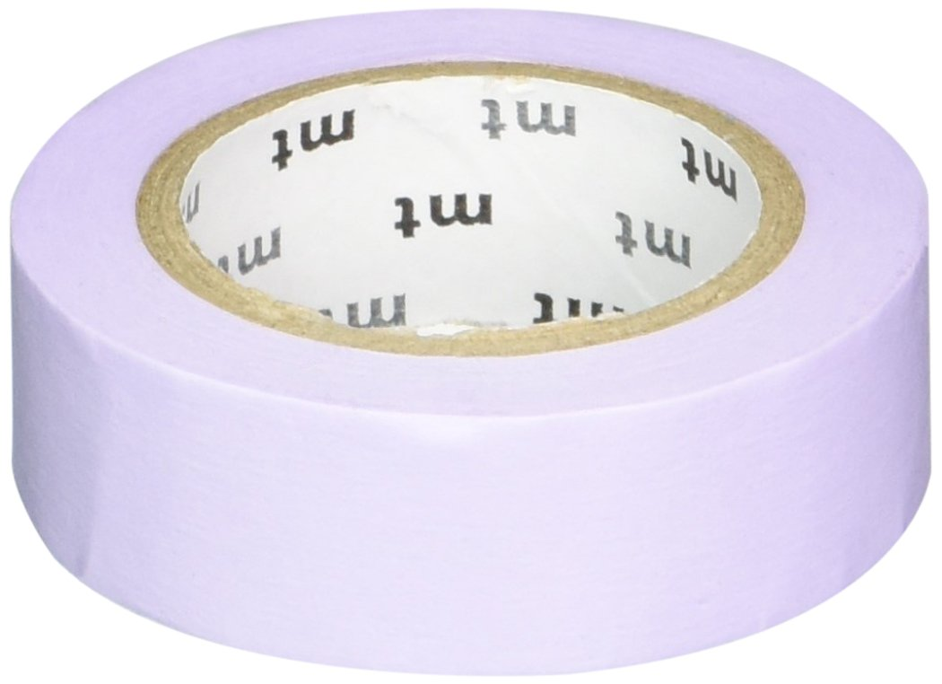 MT Washi Masking Tape, 1P Basic, 15mm x 10m, Pastel Purple (MT01P305)