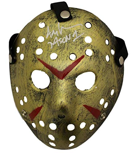 Ari Lehman Autographed Friday The 13th Replica Gold Mask Jason BAS