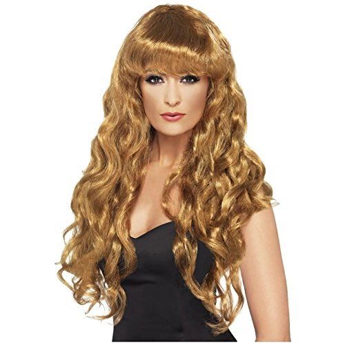 Siren Wig - Long Curly with Bangs - Brown (Wig Siren Brown)