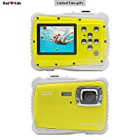 Underwater Camera Waterproof Shatterproof Dustproof 5MP for Kids Yellow,Sport Action Camera