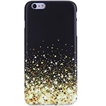 "iPhone 6 Plus Case, VIVIBIN Shock Absorption IMD Soft TPU Gel Case for iPhone 6/ 6s Plus 5.5"" (Sparlke Stars gold black-099)"
