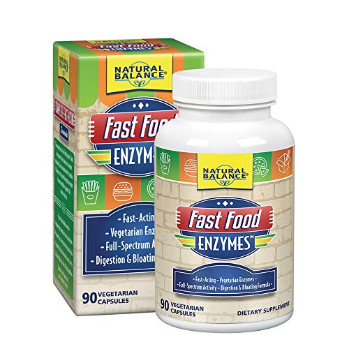 - Natural Balance Fast Food Enzymes, 90-Capsules