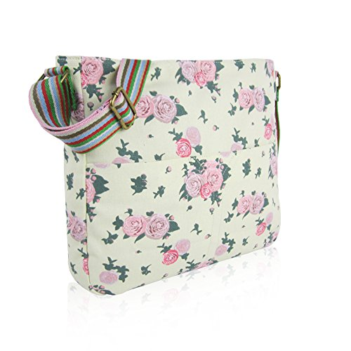 CRITTERS School Craze ANCHOR Blossom Canvas Flower NEW Body MIXED RABBIT London Bag Bag Messenger Cross CAT Bags UNICORN UMBERILLA Beige Girls WHALE Ladies ELEPHANT 8n8wqxr4H