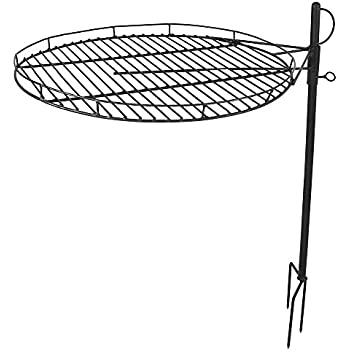 amazon sunnydaze dual c fire cooking grill grate swivel Fire System Supersion sunnydaze height adjustable fire pit cooking grate 24 inch diameter