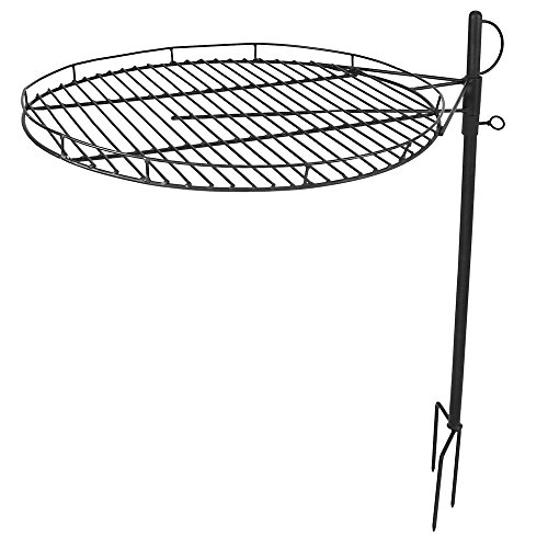 Sunnydaze Height Adjustable Fire Pit Cooking Grate, 24 Inch Diameter