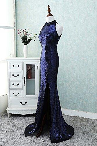 Besswedding Robe De Soirée Licol De Bal Des Femmes Pour Les Juniors Robe Avec Purple3 Haute Fente