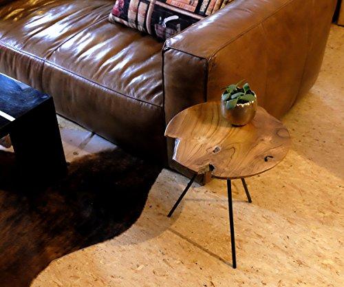 Brillibrum Design Teak Side Table 3-leg Tropical Tabletop