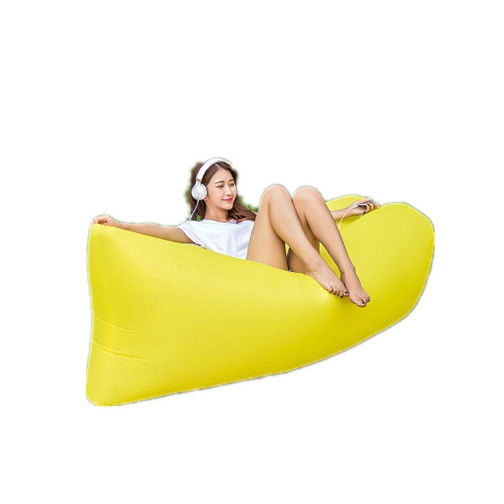 Mad sorrow Tragbares aufblasbares Sofa der aufblasbaren Blätter des im Freien aufblasbare Bettes faulen Strandsofas der gelben Freizeit schnell