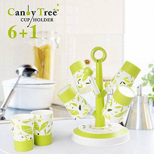 ELINKUME Tree-shape Water Glass Mug Coffee Cup Drain Holder