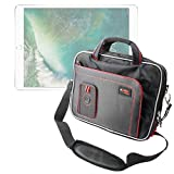 DURAGADGET Black and Red Padded Carry Bag/Case with Removable Shoulder Strap Compatible with Apple iPad Pro 10.5