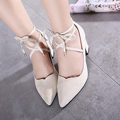 Décontracté Printemps Bride Chaussures Blanc Talons Femme 5 A Cm Noir 7 Arrière À Lvyuan Polyuréthane ggx White nPBvYxqwwz