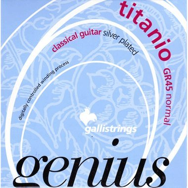 Galli Strings GR45 Genius Titanio Nylon Coated Silverplated Normal Tension Classical Acoustic Guitar Strings (Standard) - Galli Guitar Strings