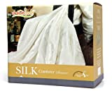 Dreamland Comfort All Natural Mulberry Silk Comforter for Summer, Twin