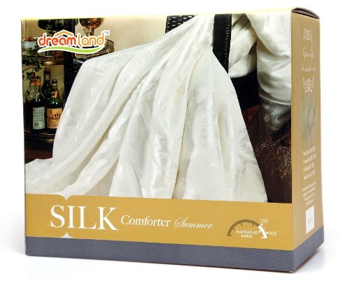 Dreamland Comfort All Natural Mulberry Silk Comforter for Summer, King