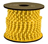 American Lighting RL-AM-150 1-Reel 825-watt 120V Incandescent Rope Light Reels, Dimmable, 150-Feet, Amber
