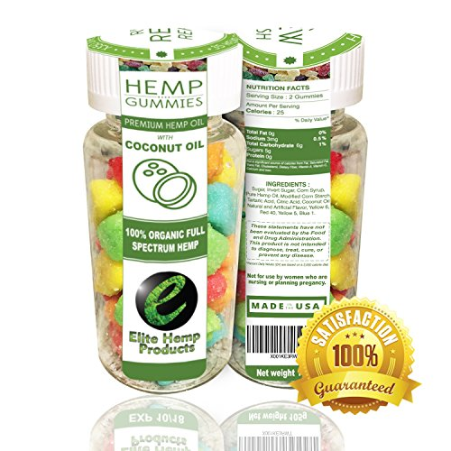 35ct Premium Hemp Gummies - 22mg Per Gummy Bear - Organic Full Spectrum Hemp - Stress Relief, Inflammation, Pain, Sleep, Anxiety, Depression, Nausea - Vitamin E, Vitamin B, Omega 3,6,9 and More