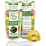 35ct Premium Hemp Gummies - 15mg Per Gummy Bear - Organic Full Spectrum Hemp - Relief for Stress, Inflammation, Pain, Sleep, Anxiety, Depression, Nausea - Vitamin E, Vitamin B, Omega 3,6,9 and MORE