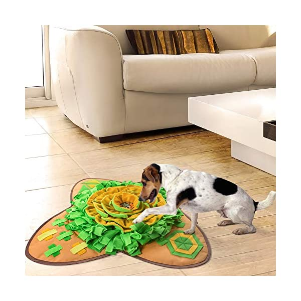 Aijiaye Dog Puzzle Toys, Pet Snuffle Feeding Mat, Interactive Game for Boredom, Encourages Natural Foraging Skills for Cats Dogs Portable Travel Use, Dog Treat Dispenser Indoor Outdoor Stress Relief 3