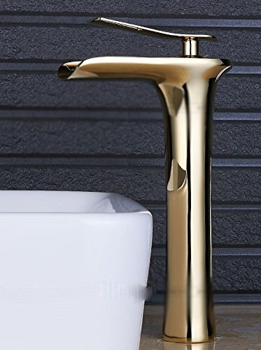 AWXJX Washroom Sink Mixer Tap copper waterfall white Gold Hot and cold Wash basin bathroom bathroom by AWXJX Sink faucet