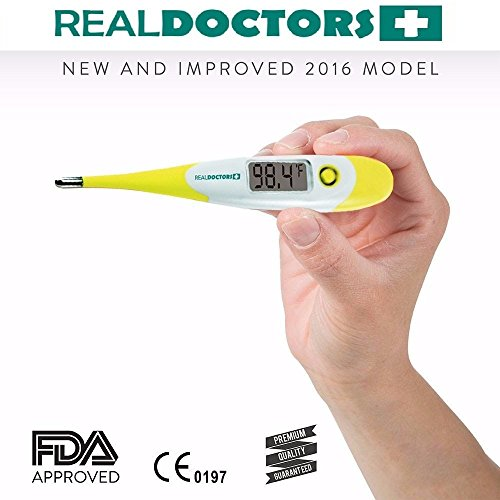 Clinical Thermometer This Oral Thermometer, Rectal Thermometer & Axillary Thermometer Is a Medical Digital Fever Thermometer For Adults Infants And Baby 10 Sec Readout Healthy Living Real Doctors