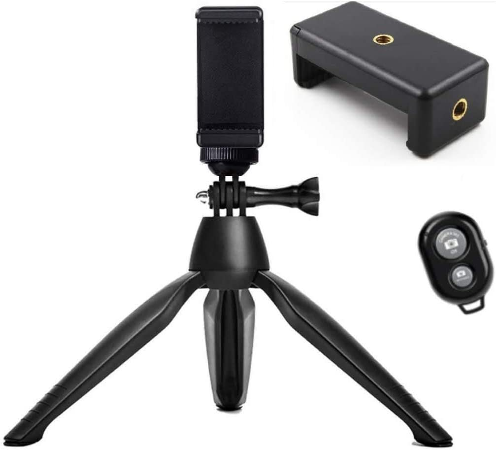 180/°Rotation Ball UXWEN Mini Phone Tripod Flexible Camera Travel Tripod with Bluetooth Control for iPhone//Camera//Smartphone//Webcam with Universal Phone Holder /& Mount