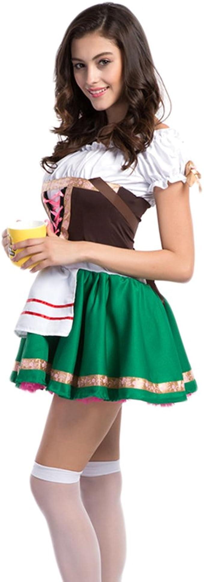 Hongyuanbb señoras Oktoberfest Cerveza Maid Disfraz alemán ...