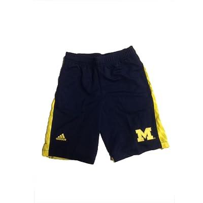 Michigan Wolverines Adidas Navy w/ Yellow Camo Stripe Youth Shorts