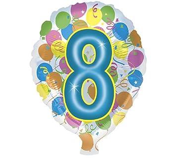Unbekannt Globo Número 8 cumpleaños Globos Multicolor ca 45 ...