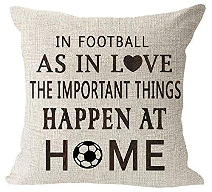 Cotton Linen Baseball Throw Pillow Case Cushion Sofa Cover Home Decor