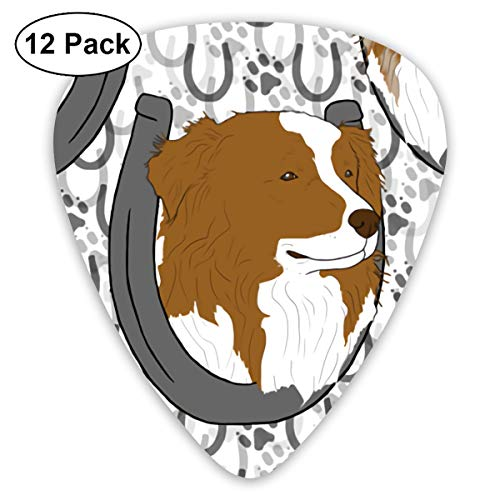 Two-color Horseshoe Paintings Of Shepherds And Dogs Small Medium Large 0.46 0.73 0.96mm Mini Flex Assortment Plastic Top Classic Rock Electric Acoustic Guitar Pick Accessories Variety Pack