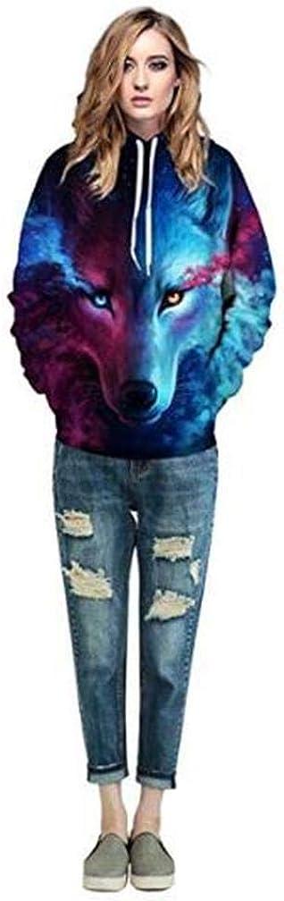 Sudadera con Capucha Hombre 3D Impresi/ón Pullover Sudaderas De Tendencia Hoodie Sweatshirt de Mangas Largas Bolsillos Unisex