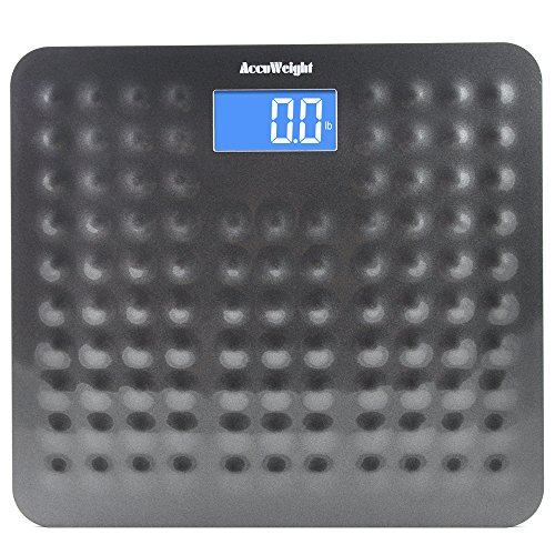 Accuweight-Digital-Body-Weight-Bathroom-Scale-with-Smart-Step-On-Technology-400-lbs-Gray