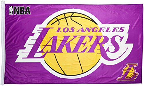 WinCraft NBA Los Angeles Lakers WCR06459010 Team Flag, 3' x 5'