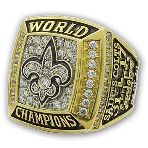 - GF-sports store Replica Championship Ring for New Orleans Saints Gift Fashion Gorgeous Collectible Ring