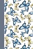 Journal: Blue and Yellow Butterflies 6x9 - LINED JOURNAL - Journal with lined pages - (Diary, Notebook) (Birds & Buttterfl...