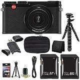 Leica X (Typ 113) CMOS Digital Camera / Leica 18440 (Black) + 32GB SDHC Card + 64GB SDXC Card + Saver Bundle 6 - International Version (No Warranty)
