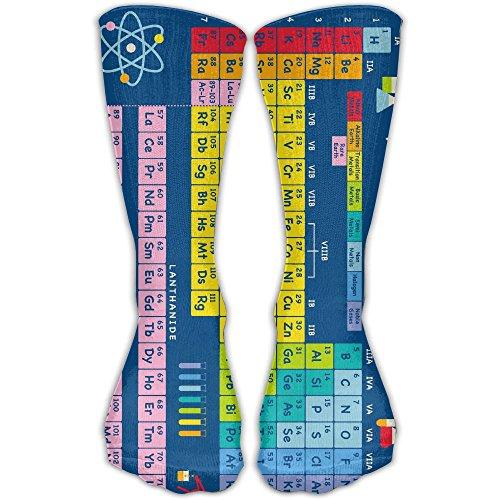 DaCrew Periodic Table Of Elements Unisex Novelty Crew Socks Ankle Dress Socks Fits Shoe Size 6-10 (Periodic Table Socks)