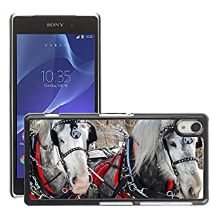 Hot Style Cell Phone PC Hard Case Cover // M00110831 Horses Gelding Winter Equine Animal // Sony Xepria Z2 L50W
