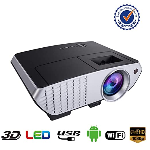 AXDNH Mini proyector portátil, Soporte 1080P 2000 lúmenes ...