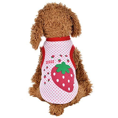 Geetobby Puppy Print Vest Dog Cat Sweatshirt Pet