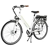 Image of Onway 7 Speed 700C Woman City Electric Bicycle, 36V Brushless Motor, Removable Lithium Battery, 70038c Tire