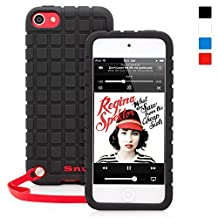 iPod 5th/6th Generation Case, Snugg™ - Silicone Rubber Case & Lifetime Guarantee (Black) for Apple iPod Touch 5th/6th Generation