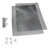 Luffy Decorative Aquatic Moss Wall/Floor Mesh Kit - Create a Lush Living Plant Moss Wall or Moss Carpet for Your Fish Tank (Plant Not Included): Includes 2 Mesh Pieces, 10 Cable Ties & 5 Suction Cups