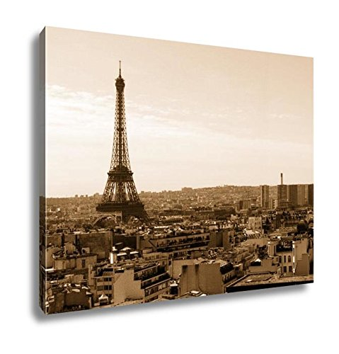 Ashley Canvas Color Dslr Stock Image Of Eiffel Tower Paris France With The Capital Cityscape  Wall Art Home Decor  Ready To Hang  Sepia  16X20  Ag4913986